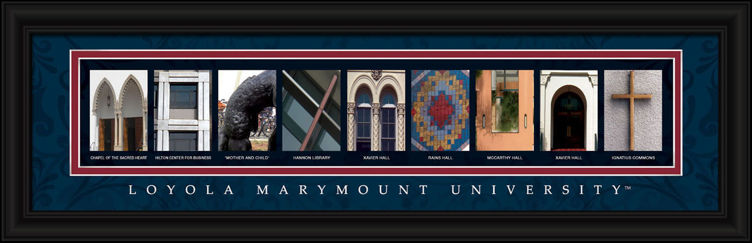 Primary image for  Loyola Marymount University Officially Licensed Framed Letter Art  Los Angeles