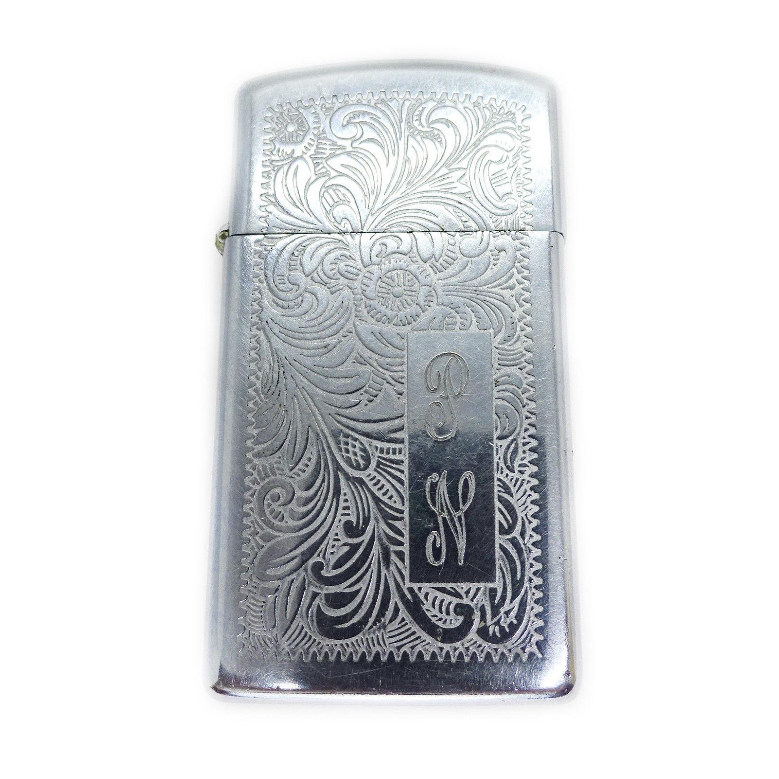 """Zippo Venetian High Polish Chrome Lighter, Monogrammed """"PN"""" - $23.00"""