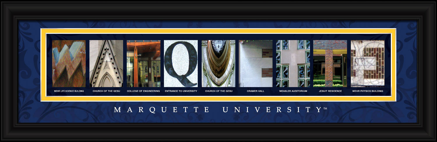 Primary image for Marquette University Officially Licensed Framed Letter Art