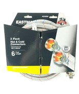 Eastman 2-Pack 6 ft Hot & Cold Stainless Steel Braided Washing Machine H... - $23.17