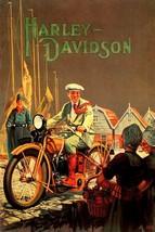 Having Fun Usa Us Motorcycle Harley Davidson Path Rider Vintage Poster Repro - $10.96+