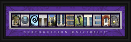 Northwestern University Officially Licensed Framed Letter Art - $39.95