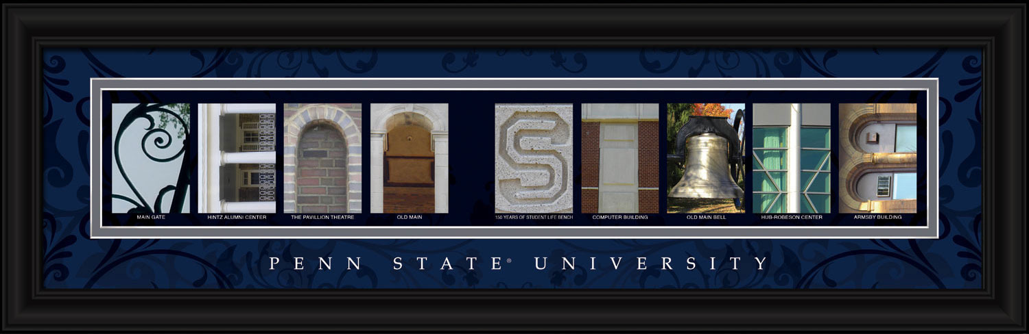 Primary image for Penn State University Framed Letter Art Print