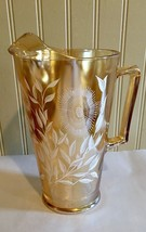 vintage Marigold Fenton Dandelion Pattern glass pitcher Rare - $49.50