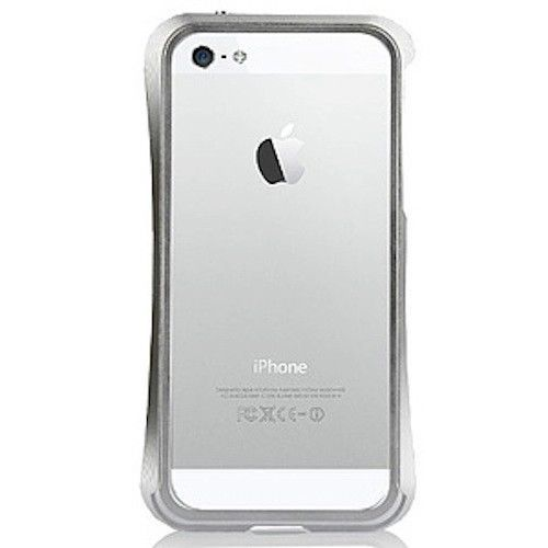 Hypergear Aircraft Aluminum Bumper Case for iPhone 5, Silver