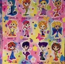 Vintage Lisa Frank Sticker Sheet Zodiac Horoscope Astrology Girls Complete image 2