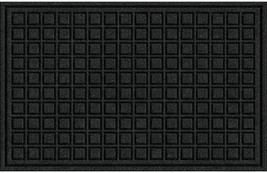 Textures Blocks Entrance Door Mat, 18-Inch by 30-Inch, Onyx - $15.78