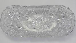 American Brilliant Period Cut Glass bread tray   Antique crystal - $157.67