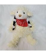 "15"" Hobby Lobby Lamb Western Theme Yellow Shaggy Bandana Plush Stuffed T... - $19.99"