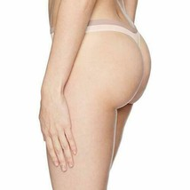 Calvin Klein Shoreline Blue Pure Seamless Thong Panties Underwear QD3544-680 NWT image 2
