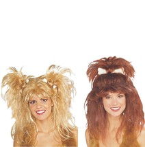 Wig - Cavewoman - Set of 2 - Blonde + Brown - Deluxe Adult Costume Acces... - $24.29