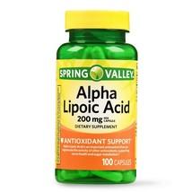 Spring Valley Alpha Lipoic Acid Capsules, 200 mg, 100 CT.. - $16.82