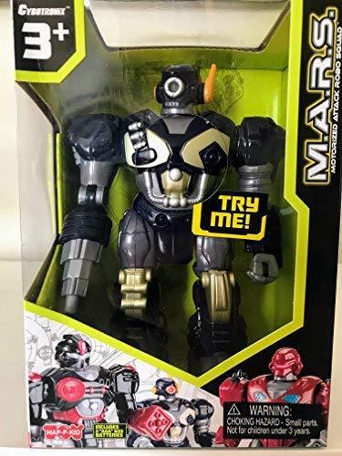 M.A.R.S. Motorized Walking Cyber Bot Attack Robot Dark Blue w/Bronze/gold - Pola