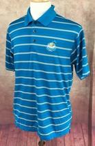Adidas Golf Climacool Polo Regatta Bay Destin Florida Blue Stripe Shirt ... - $21.72