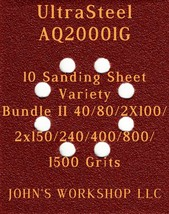 Ultra Steel AQ20001G - 40/80/100/150/240/400/800/1500 - 10pc Variety Bun... - $12.46