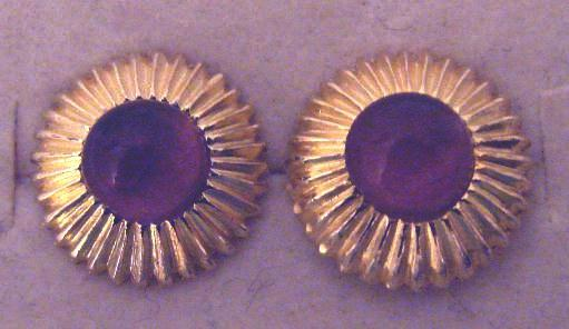 VERMEIL AMETHYST STUD EARRINGS