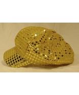 Beauties BO5317 Gold Sequin Hat Newsboy Cap 8in... - $10.06