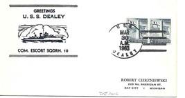 DEALEY (DE-1006) 30 Mar 1963 Locy Type 2r Nicholson Cachet - $3.47