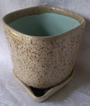 Glidden art pottery planter brown speckled truquoise3 thumb200