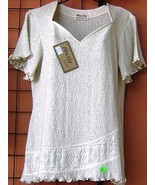 white shirt,Top made of ecological pima cotton - $36.00