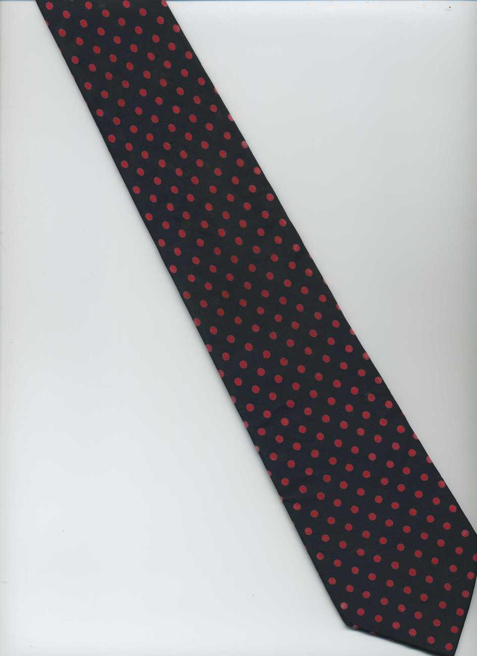 jim thompson tie blue with polka dots silk tie