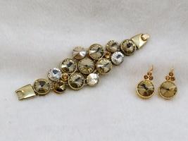 Chunky Rivoli Demi-Parure Bracelet w/ Earrings image 6