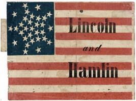 "16x20""Decoration CANVAS.Interior room design art.Lincoln flag.U.S histor... - $50.00"