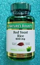 New Nature's Bounty Red Yeast Rice 600 MG. 120 Capsules. EXP 03/2023 - $18.99