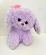 Aurora Cotton Candies Sassy Puppy Dog Plush Stuffed Animal Purple Fluffy... - $34.62