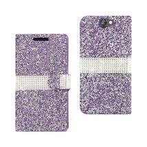 Htc One A9 Jewelry Rhinestone Wallet Case in Purple - $24.99