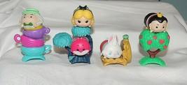 New Disney Tsum Tsum Alice in Wonderland 9 Pce Set Mad Hatter Cheshire Cat - $19.79