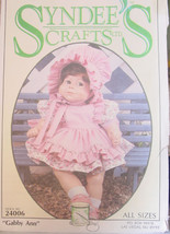 "Pattern 24006 Three Size Doll Clothes ""Gabby Ann"" Syndee's Crafts - $5.00"