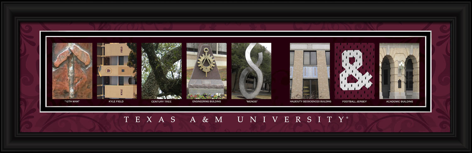 Primary image for Texas A&M University Officially Licensed Framed Letter Art - 3 Versions