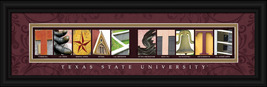 Texas State University Officially Licensed Framed Letter Art - $39.95