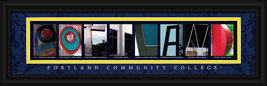 Portland Community College  Officially Licensed Framed Letter Art Portla... - $39.95