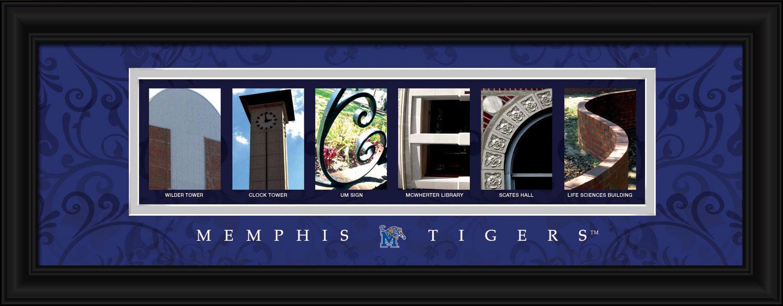 University of Memphis Officially Licensed Framed Letter Art Print