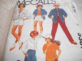Girls' Shirt, Top & Pants or Shorts Pattern McCall's 9387 - $5.00