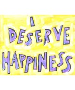 """""""I deserve happiness"""" Inspirational qoutes for women Art Prints Posters - $15.35"""