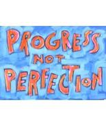 """Progress not Perfection"" Motivational statement Art Poster Print - $15.35"