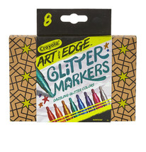 2 Sets of 8 Crayola 588618 Crayola Art with Edge Glitter Markers New in Box image 2