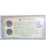 "WESTWARD JOURNEY AMERICAN BISON NICKEL FIRST DAY COVER,  2-PC, ""P"" & ""D""... - $15.00"