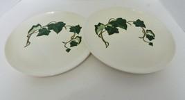 Metlox Poppytrail Vernon Two Dinner Plates Californina Ivy Pattern Green... - $14.73
