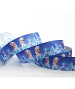 "Disney Frozen Elsa Printed Grosgrain Ribbon 7/8"" (22mm)/DIY Hair bow /3Y... - $4.95"