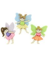 Flower Fairies Novelty Plastic Buttons /DIY Sewing supplies/Kids craft s... - $4.25