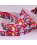 "Princess Sofia Printed Grosgrain Ribbon 7/8""(22mm)/DIY Hair Bows/Craft S... - $1.50"