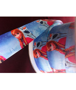 "Frozen Sister Anna & Olaf Printed Grosgrain Ribbon1""(25mm)/ DIY Hair Bow... - $3.90"