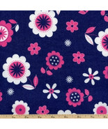 Fluffy Jungle Floral Flannel 100% Cotton Fabric/Sewing Craft Supplies/Qu... - $8.90