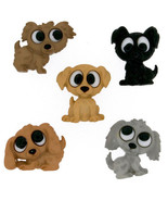 Playing Puppies Novelty Buttons//DIY Sewing supplies/Plastic Buttons/Kid... - $4.25