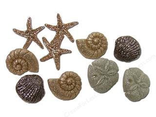 Primary image for Seashells Novelty Plastic Buttons /DIY Sewing Craft supplies/Party Supplies