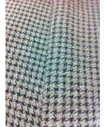 Taupe Plaid Wool Fabric / Sewing Craft Supplies / Suiting Fabric / Suita... - $12.00